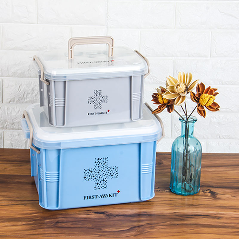 Baffect Multi-layered Family Medicine Metal Medical Box Medical First Aid Storage Box Storage Medical Gathering