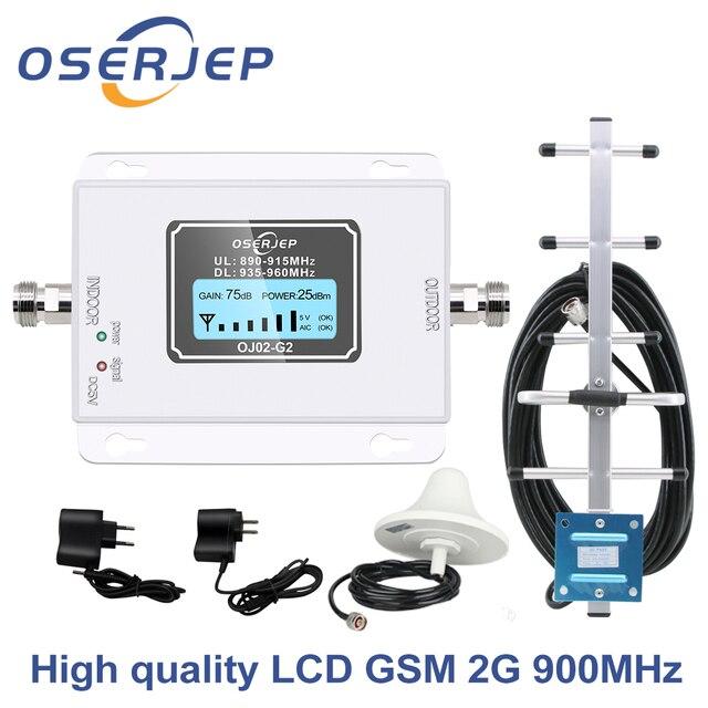 Led Screen Display GSM 900Mhz Umts 2G/3Gcelular MOBILE PHONE Signal Repeater 900MHz Amplifier + Yagi /Panel Antenna
