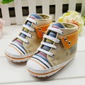 New Arrive Baby Toddler Shoes Boys Girls First Walkers Rainbow Stripes Design Kids Infant  Shoes Free Shipping 1018