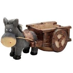 Schöne Esel Pull Warenkorb Harz Aschenbecher Handwerk Dekoration Ornament Geschenk für Home Wohnzimmer FP8
