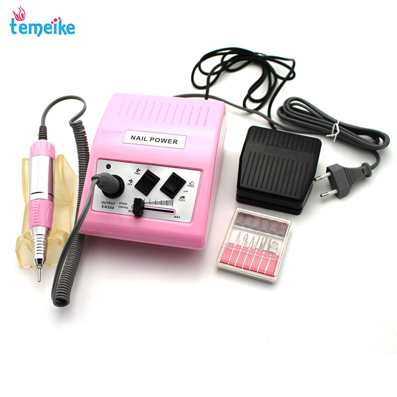 цена на Electric Nail Drill Machine 30000 RPM 35W Pro Diamond Nail File Drill Machine Maniure And Pedicure Drill Polish Bits Tools Kits