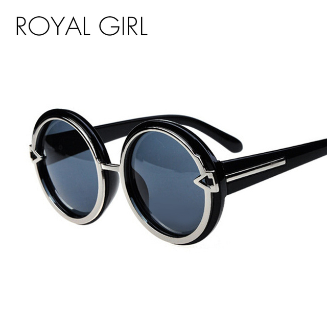 1ff9438ef7 ROYAL GIRL Classic Round Sunglasses Women Men Brand Black Pink Sun Glasses  Female thick chunky shades