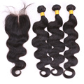 7A unprocessed malaysian virgin hair with closure, 100% virgin hair bundles with lace closures, human hair weave with closure