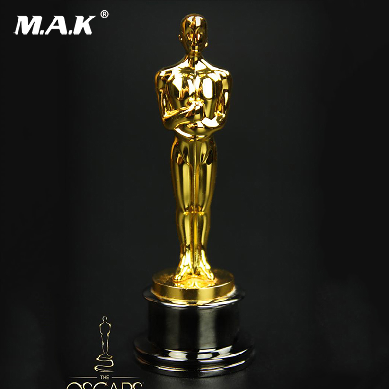 59mm Collectible 1/6 Scale Oscar statuette Action Figure Small golden statue figure Toys Gift for collection