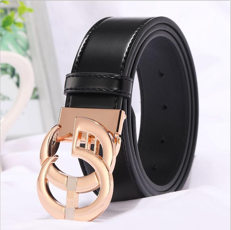 Image 3 - 2019 New Fashion Style Real cowhide man women leather leisure belt smooth  Gold Silver black buckle fashion popular lady straps-in Men's Belts from Apparel Accessories