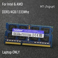 Original HY Chipset DDR3 4GB 4G 1333MHz 1600Mhz 1066Mhz 1333 PC3 10600S 4G notebook memory Laptop RAM SODIMM for intel for amd