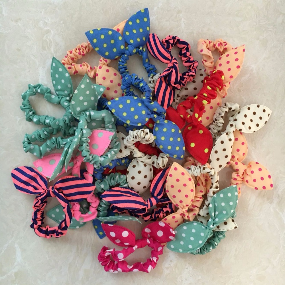 10Pcs/Lot 2016 Gum For Hair Women/Girls Accessories Scrunchy Elastic Hair Bands Headdress Acessorios Para Cabelo Rabbit Ears цепочка page 2
