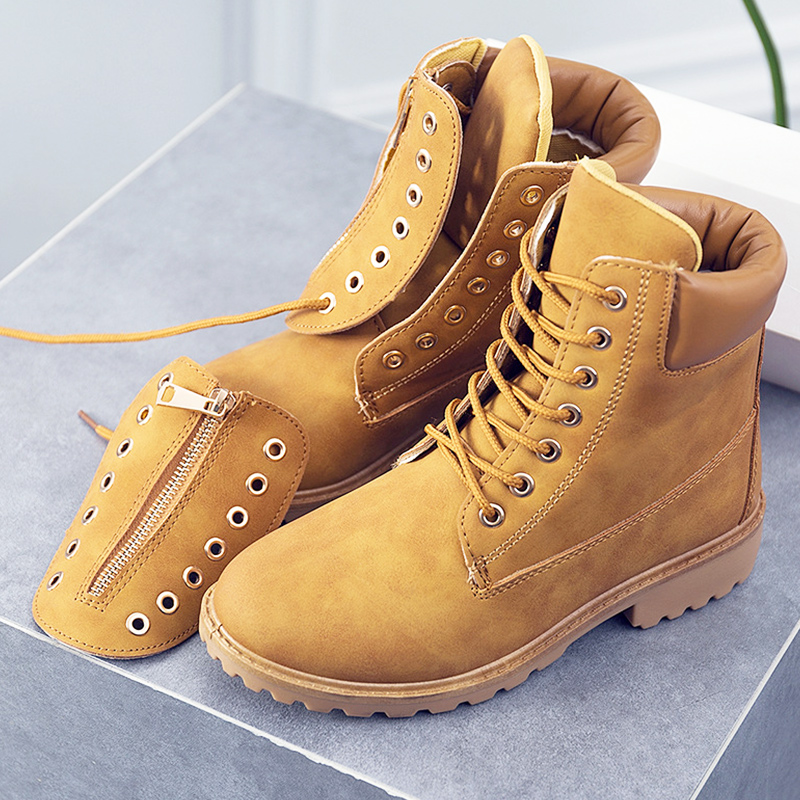 Fashion women boots Rubber shoes Work Ankle boots for women 2019 Adult Cross-tied Female Autumn boots size 36-41