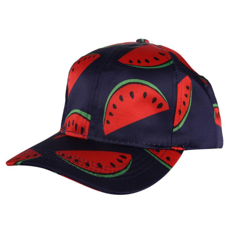 Cute Baseball Watermelon Cap womens baseball hats Cotton Casual Banana  Fruit Print Hats for baseball cap man d95ac46e070d