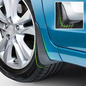 Image 4 - Car Mudflaps For Hyundai Elantra Touring i30 i30cw 2007   2012 Mud Flaps Splash Guards Mudguards Front Rear 2008 2009 2010 2011