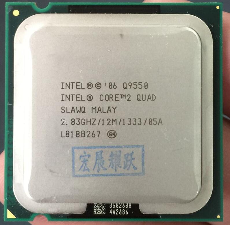 Prix pour Intel Core2 Quad Processeur Q9550 CPU SLB8V EO (12 M Cache, 2.83 GHz, 1333 MHz FSB) EO LGA775 Bureau CPU
