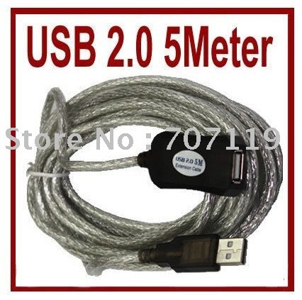 150pcs AA1 16 Ft 5M Male to Female Active USB 2.0 Extension Cable