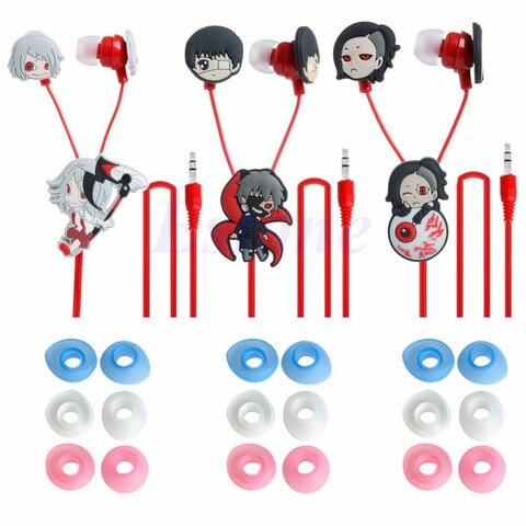 Anime Tokyo Ghoul Kaneki Ken Earphone Cute Earbuds Headphones Headset Cosplay Karachi