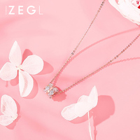 ZEGL gold necklace metal necklace female clavicle chain sterling silver necklace pendant chokers necklaces for women