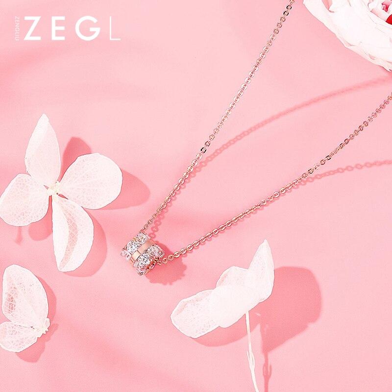 ZEGL or collier métal collier femme clavicule chaîne en argent sterling collier pendentif chokers colliers pour femmes
