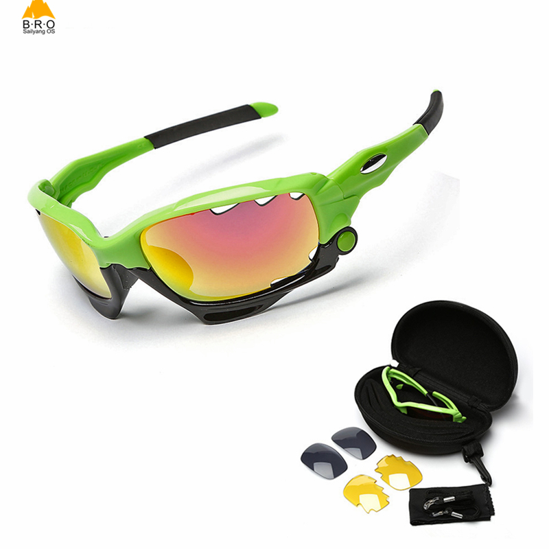 3 Lens Polarized Cycling Glasses Jaw Sport Cycling Sunglasses Men UV400 Breaker MTB Cycling Eyewear Bike Bicycle Goggles fuzzy duck fuzzy duck fuzzy duck