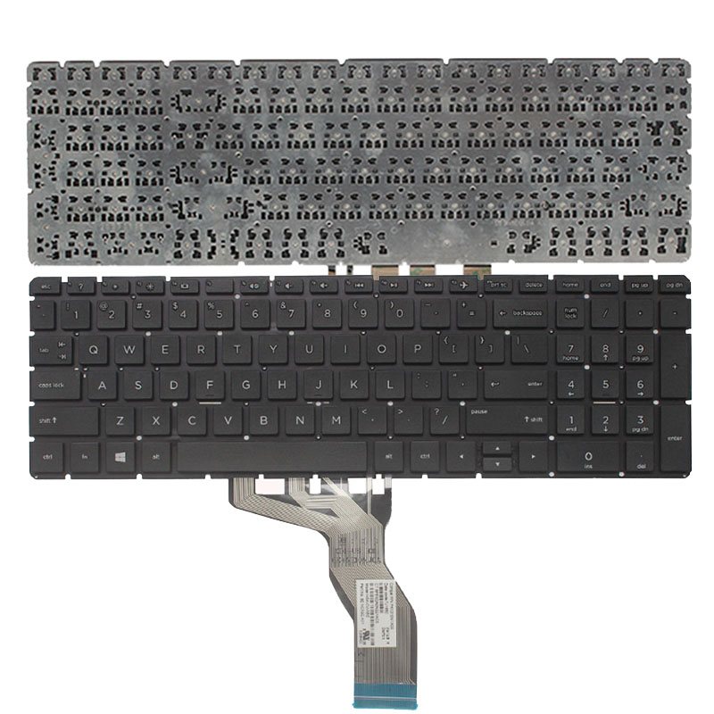 US laptop keyboard for HP 15 BS 250 G6 255 G6 256 G6(only keyboard) English keyboard-in Replacement Keyboards from Computer & Office on