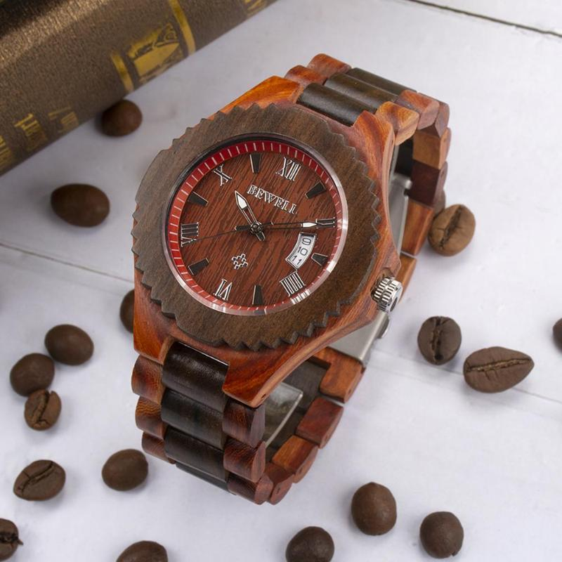 Men Watch Clock Wooden Luxury Relogio New And Masculino Special-Wood Metal-Design Top-Brand