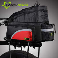 ROCKBROS Polyester Larger Capacity Mountain Bike Bicycle Bag Rear Carrier Bags Cycling Rear Pack Trunk Pannier