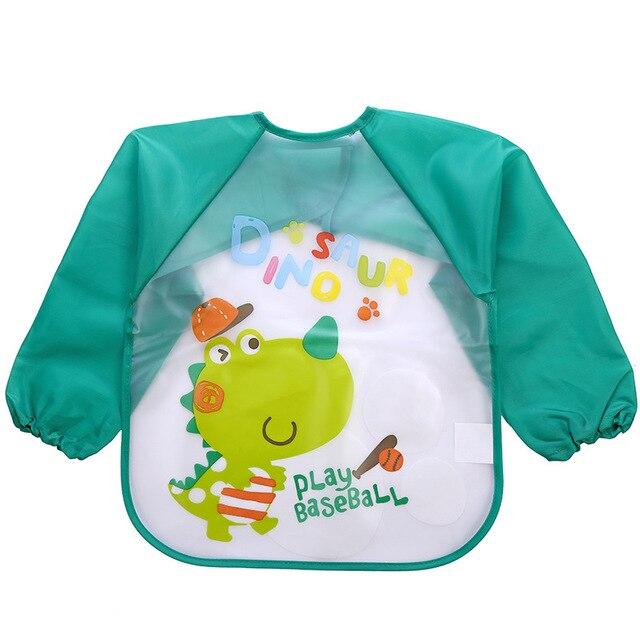 Śliniaczek dla niemowląt wodoodporny, długi rękaw Mickey Minnie śliniaki dla dzieci śliniaczek śliniak do karmienia z kieszonką fartuch dziecięcy