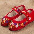 Crianças Sapatos Bordados de Algodão & Sapatos De Linho de Idade Meninas Bonito Sneaker