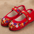 Kids Embroidered Shoes Cotton & Linen  Shoes Old Girls Cute Sneaker