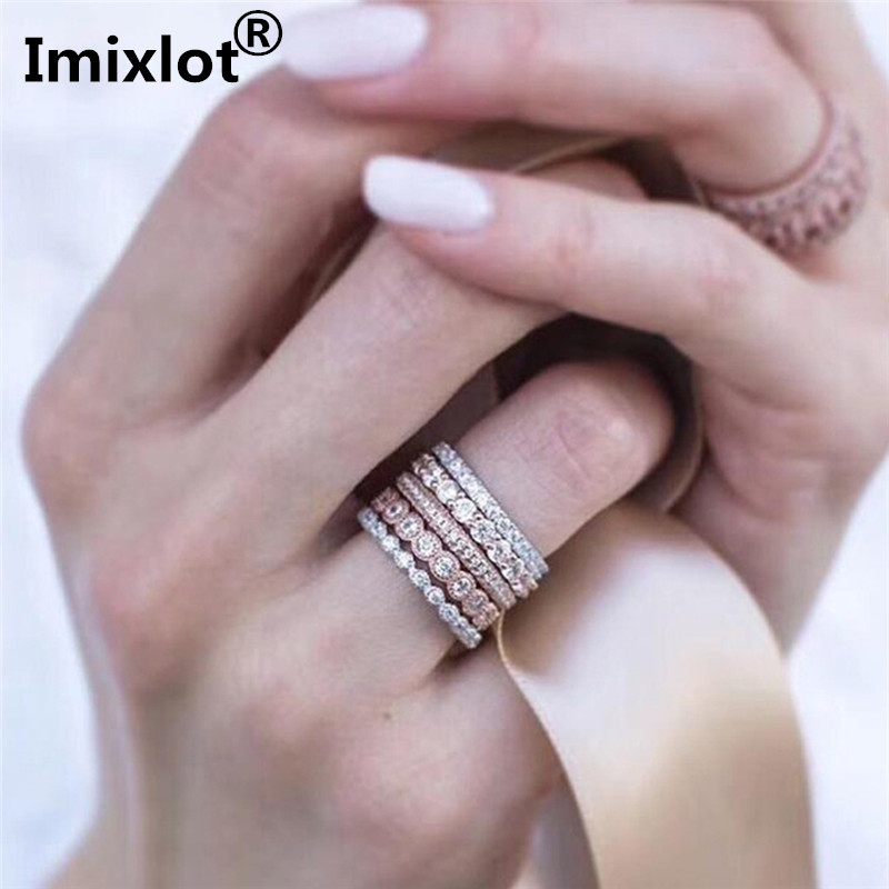 554e5fcaad4a3 US $2.29 15% OFF|Imixlot Creative 5pcs/Set Women Mid Finger Stacking Rings  Fashion Girl's Gold And Silver Stack Rings Set Wedding Band Women-in Rings  ...