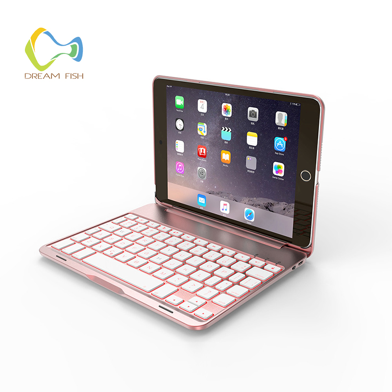 Ultra Thin Folio Case for iPad mini 1/2/3/4 PU+ Aluminum Clamshell Bluetooth keyboard Smart Auto Sleep Wake Tablet Case Coque