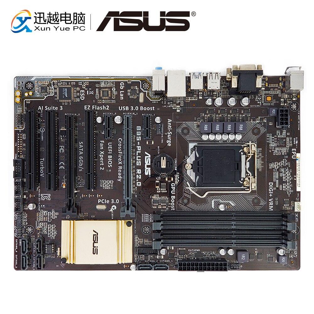 Asus B85-PLUS R2.0 Desktop Motherboard B85 Socket LGA 1150 i7 i5 i3 DDR3 32G SATA3 USB3.0 ATX used for asus p8p67 evo desktop motherboard p67 socket lga 1155 i3 i5 i7 ddr3 32g sata3 usb3 0