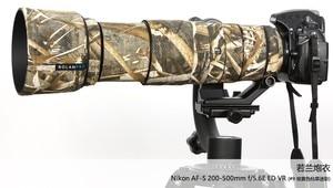 Image 4 - ROLANPRO Camera Lens Coat Camouflage AF S 200 500mm f/5.6E ED VR Lens protective case guns clothing For Nikon