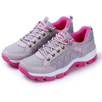 Summer Women Run Shoe 2016 Women Sport Shoes Gray Red Shoes Woman Sneakers Brand Lightweight Womans