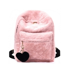 2018 new winter womens backpack fashionable plush student bag luxury shoes women designers Travel Backpack