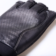 Spring Men's Leather Fingerless Driving Gloves