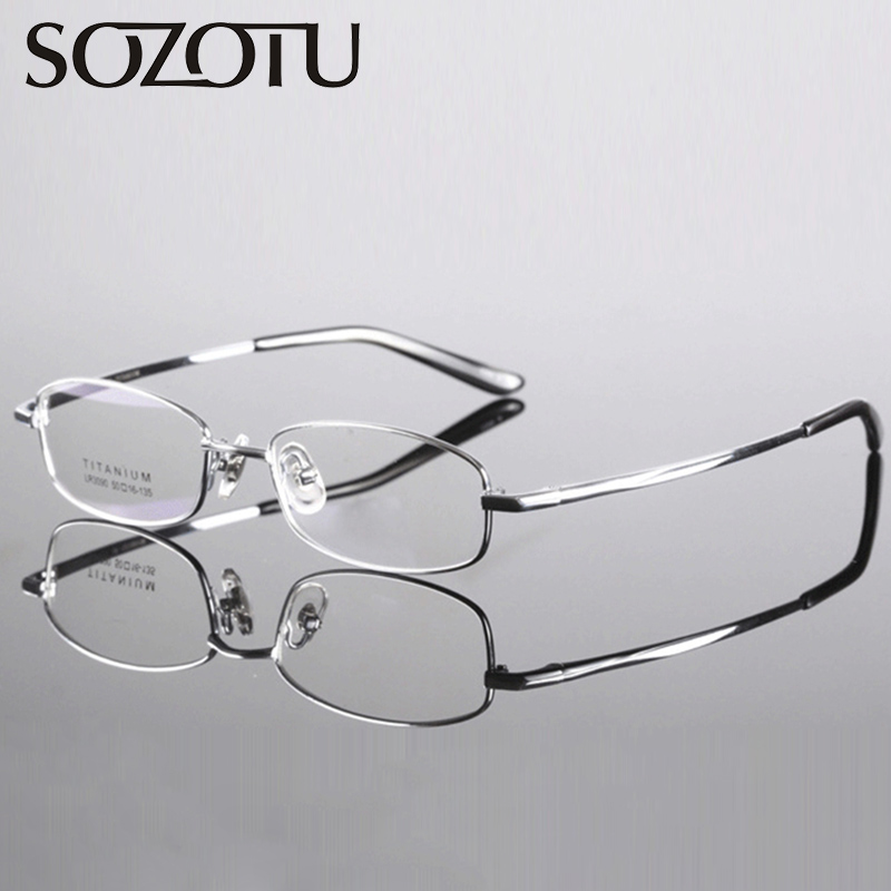 Brillenrahmen Sinnvoll Spektakel Rahmen Männer Frauen Reinem Titan Nerd Myopie Brillen Computer Optische Klar Brillen Für Männlich Weiblich Brillen Yq285 Durchsichtig In Sicht Herren-brillen