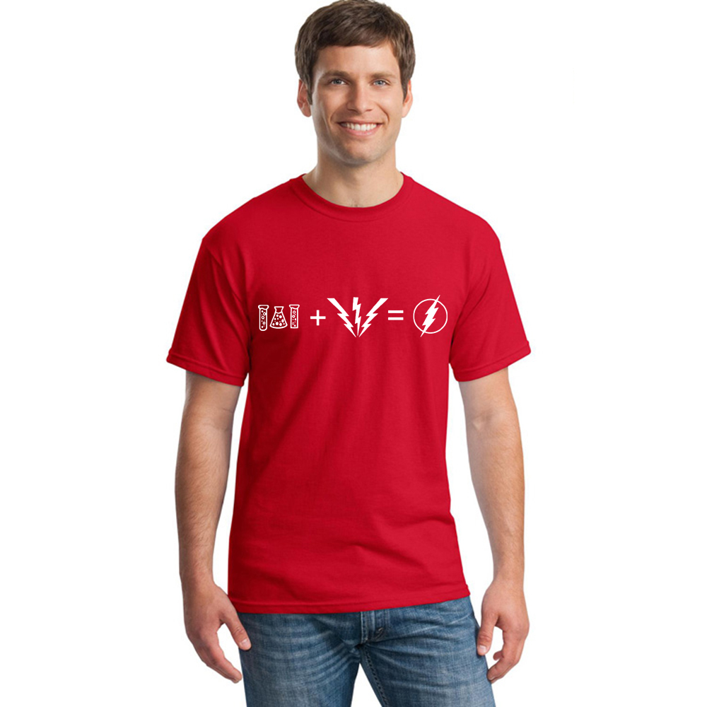 8colors The FLASH Equation Red T-Shirt Men 100% Cotton T Shirt As Worn By Sheldon Cooper T-shirt TBBT Big Bang Theory Shirt Male