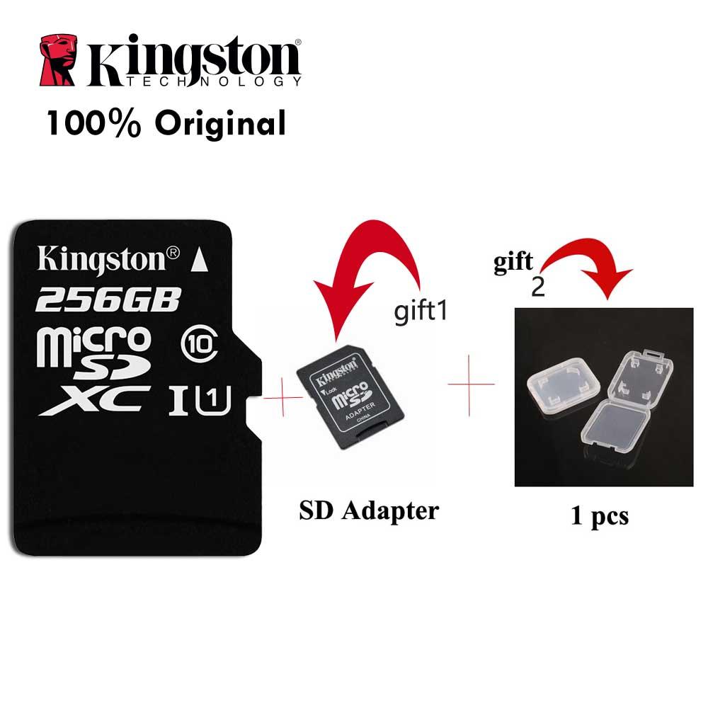 Kingston 100 Original Micro SD Card Class 10 256GB Memory Card C10 Mini SD Card SDHC