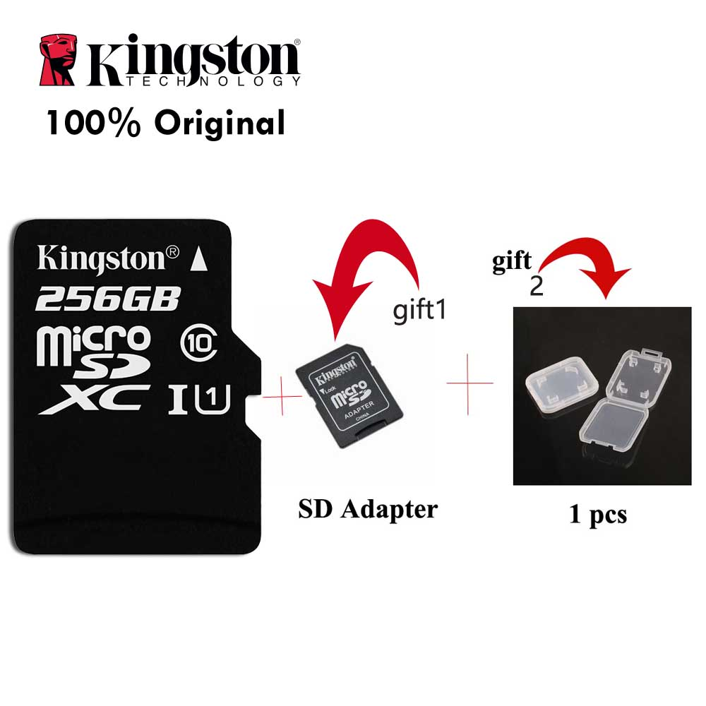 Kingston 100% carte Micro SD originale classe 10 256 GB carte mémoire C10 Mini carte SD SDHC SDXC TF carte pour Smartphone livraison directe