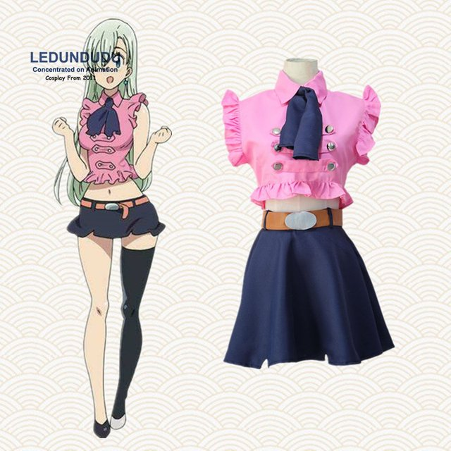 4 In 1 Set The Seven Deadly Sins Cosplay Costumes Elizabeth Liones
