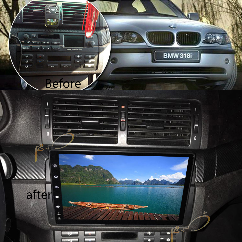 Android 8,1 GPS de coche para BMW serie E46 M3 95 05 unidad principal reproductor Multimedia de Radio estéreo con WIFI Bluetooth de navegación táctil - 4