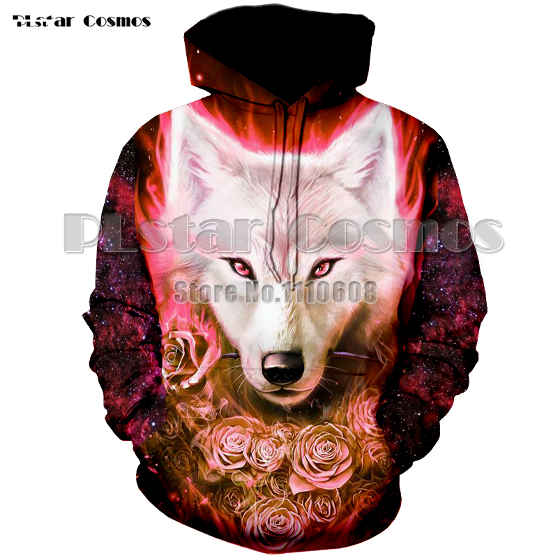PLstar Cosmos Newest colorful Wolf 3D Hoodies Sweatshirts Men Women Hoodie Casual Tracksuits Fashion Brand Hoodie Coats