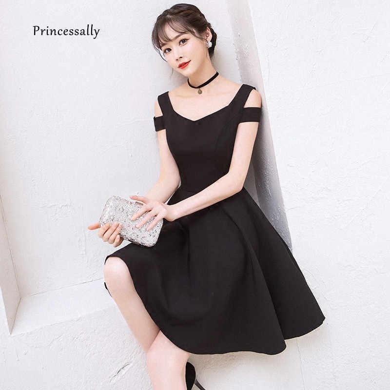e8a8d517db3e2 Detail Feedback Questions about New Black Cocktail Gown Cute Above the Knee  Elegant Formal Graduation Party Simple Party Cocktail Dress 2018 Vestido  Preto ...