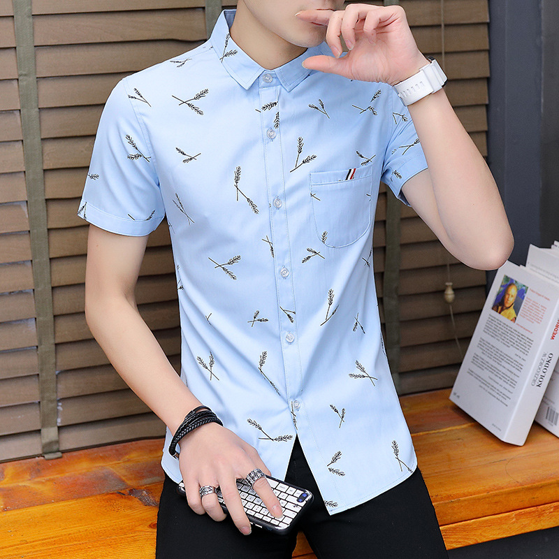 861bd1d4592 Uwback Men Dress Shirts Summer Printed Slim Fit Casual Shirts Short Sleeve  Breathable Fashion Clothing Plus Size 3XL Tops XA612-in Dress Shirts from  Men s ...