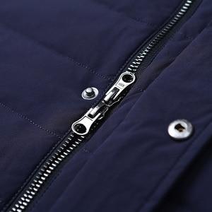 Image 5 - سترة بيضاء للرجال من BOSIDENG سترة عمل كاجوال طويلة من أسفل معطف للشتاء سميك سترة دافئة B70133003