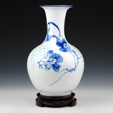Jingdezhen ceramics painted green shadow relief fruits of modern classical Chinese vase Home Furnishing ornaments