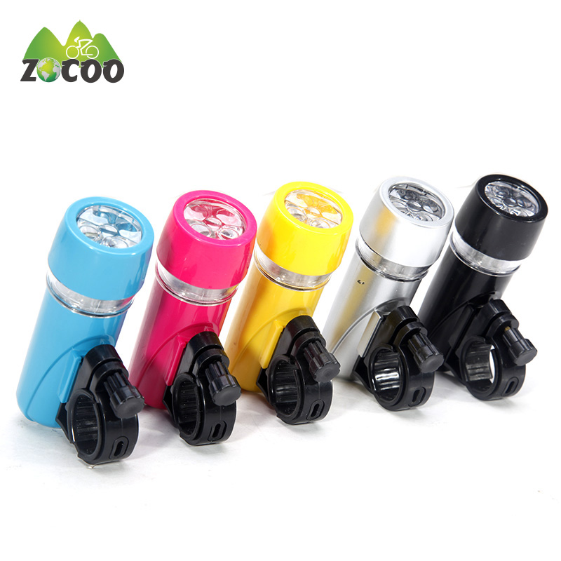Zocoo Bicycle Light Single Lamp Bright 5 LED Bike Front Light Lamp Safety Flashlight Bicycle Light  Cycling Accessories