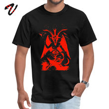 Red Baphomet Casual Father Day Bermuda Fabric Round Neck Mens Tops & Tees 2019 Green Lantern Sleeve T Shirts