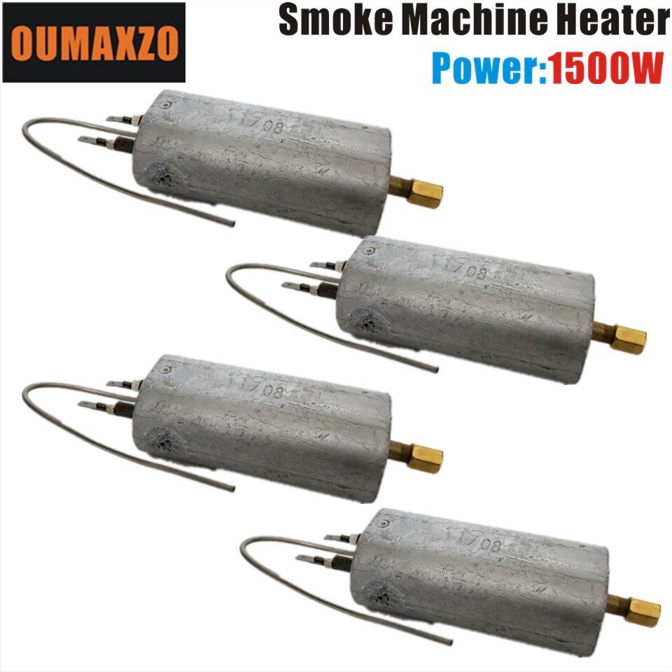 Işıklar ve Aydınlatma'ten Sahne Aydınlatması Efekti'de 4 adet/grup OUMAXZO 1500 W 110 V 220 V Sis Makinesi ısıtıcı duman makinesi hazer Hood sahne ışığı title=
