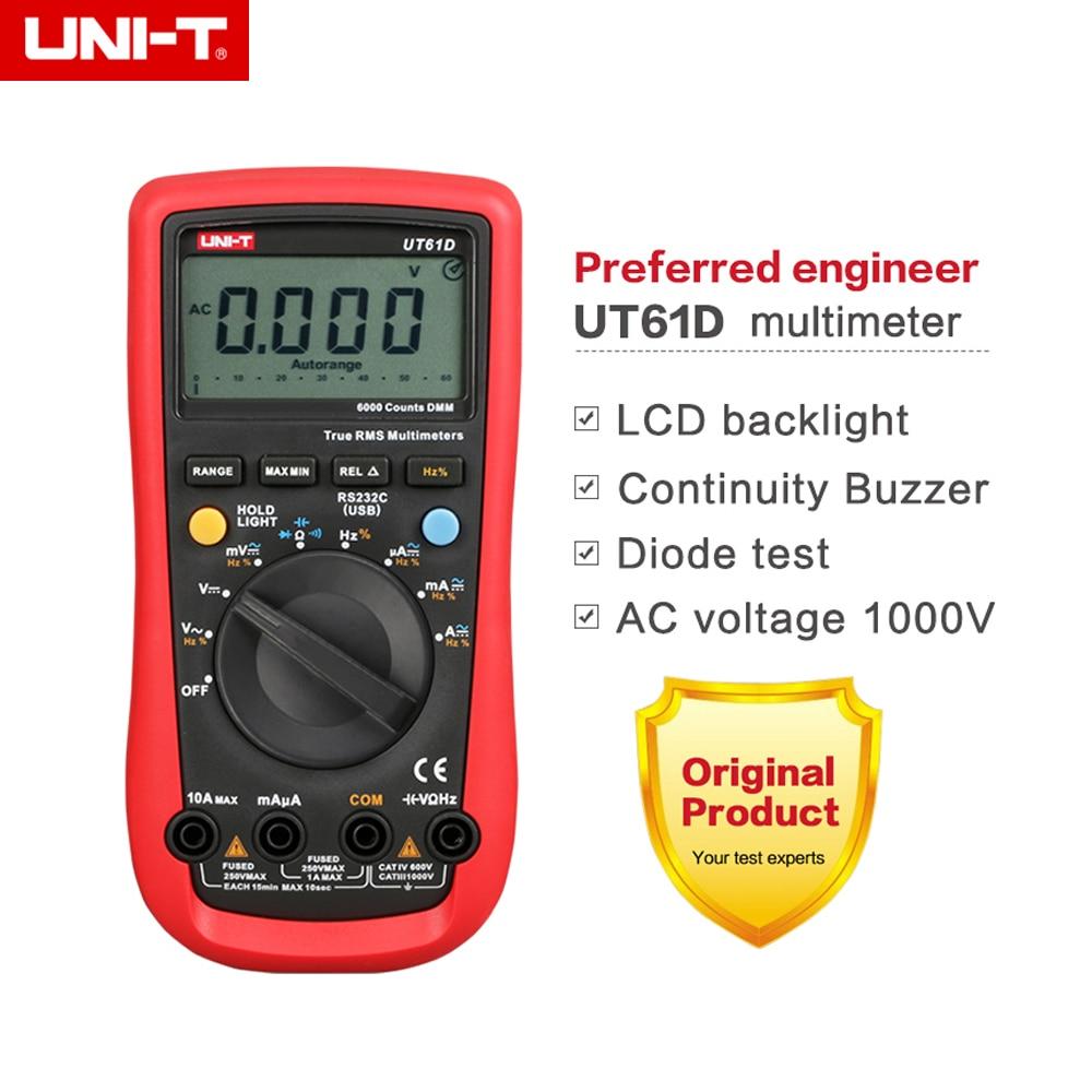 UNI-T UT-61D Modern Digital Multimeters UT61D AC DC 6000 counts DMM Meter цена