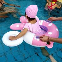 2019 new baby swimming inflatable child seat infant swimming circle play water toys thick pvc cartoon seat