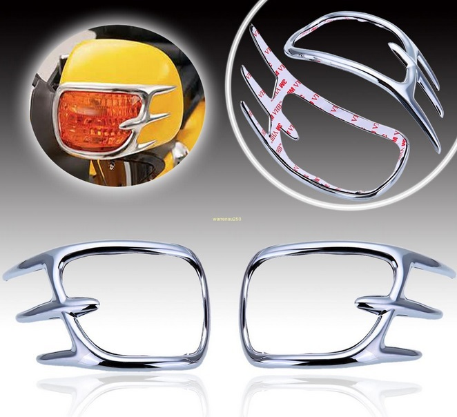 Chrome Fairing Mirror Back Accent Grilles For Honda Goldwing GL1800 2001-2011 10